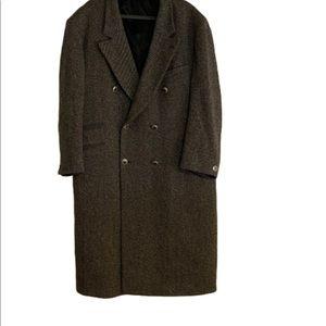 Versace Classic V2 Wool Coat Sz 56R Logo Buttons